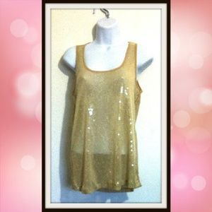 Forever 21 Sequin Tank Cami Top Sleeveless